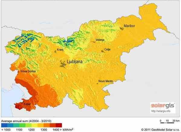 Sončno obsevanje v Sloveniji